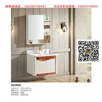 成都浴室柜厂组合吊柜红橡材质洗手盆