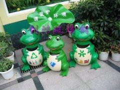上海雕塑青蛙喷泉水景青蛙垃圾桶石雕