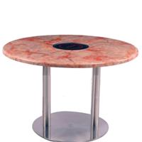大理石火锅桌 多工能大理石餐桌
