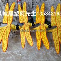 户外园林绿化仿真昆虫玻璃钢蜻蜓雕塑