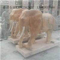 招财大象汉白玉石雕大象定做