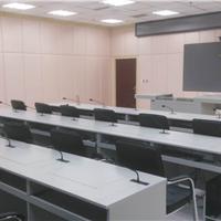 翻转电脑桌学校学生显示器电教室液晶屏双人