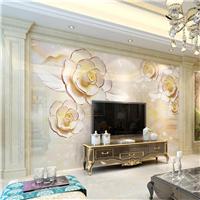 仿大理石室内装饰建材艺术3D电视背景墙