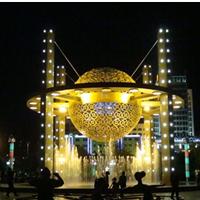 广场公园都市夜景灯光镂空玻璃钢雕塑