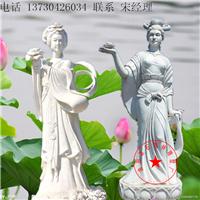 荷花仙子人物雕塑 石雕厂家现货供应牡丹荷花仙子