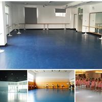 PVC地板安装幼儿园舞蹈教室弹性塑胶地板施工天津运动安装