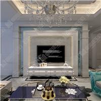 御美佳玉石背景墙  精美线条暖色系搭配3D背景墙系列