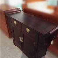 小叶紫檀翘头两联柜 玄关桌案台储物柜 中式餐边柜