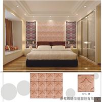 简约现代床头防火皮雕软包背景墙