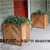 实木花箱异形特色花钵种花摆花花器天然防腐木花盆组合5102