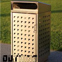201不锈钢单桶双桶垃圾箱304不锈钢冲孔板垃圾桶4506