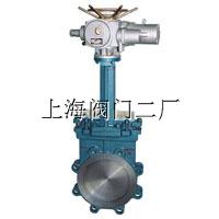 PZ973H、PZ973F、PZ973Y电动刀型闸阀上海沪工阀门厂