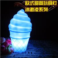 2017新款欧式创意礼品冰淇淋led小夜灯定制 卡通发光儿童装饰玩具
