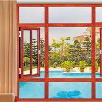 55系列断桥铝窗纱一体平开窗博俊门窗型材供应