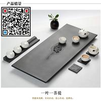 广东湛江乌金石茶盘厂 天然玄武岩茶盘加工