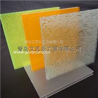 艾思乐防水防霉重量轻强度高透明pc蜂窝复合板
