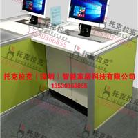 电动升降屏风电脑桌学生机考卡座学生考试桌