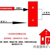 生铁屑压饼机设备报价――河南豫晖矿山机械有限公司