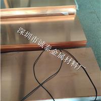 TU1无氧铜板 高导2.3 1.8半硬红铜板