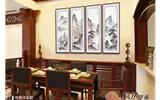 较有艺术范餐厅背景墙挂画 装扮属于你的魅力餐厅-背景墙
