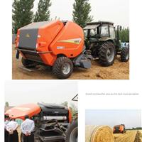 华德圆草捆打捆机牧草成捆收获机械捆草网专业