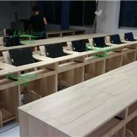 供应水曲柳学校翻转电脑桌 电教室电脑桌10张起