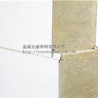 盐城业盛彩钢厂家提供100mm岩棉彩钢夹芯板