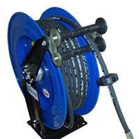 供应深圳10-15米双臂加强型伸缩水管卷管器 弹簧回收高压气鼓卷盘