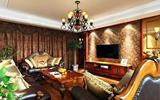 初七晒表舅欧式新居, 客厅设计相当的豪, 装修花费一定不菲!-欧式壁纸卧室