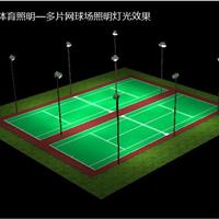 网球场照明灯具,网球场灯光怎么布置,一个网球场用多少盏灯