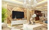 依云首府151平米欧式风格装修 精致美家-欧式壁纸卧室