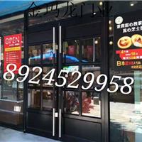 厦门商铺铝合金地弹门,优质KFC大门价格