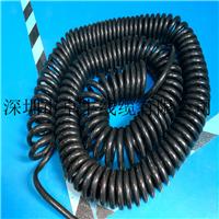 3芯弹簧电缆线 3芯展示台专用电缆线 螺旋电线