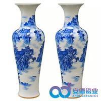 大花瓶厂家定制 粉彩大花瓶销售 落地礼品大花瓶