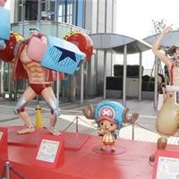 动漫海贼王人物道具景观玻璃钢彩绘雕塑