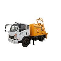 连续式混凝土搅拌配料一体机,30m搅拌地拖泵一体机
