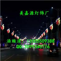 LED路灯杆上的造型灯,夜景装饰,中国梦造型