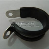 太原SKM线管固定扣 R型金属线夹 包胶管卡 厂家大量供货