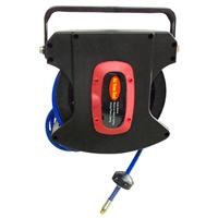 15米自动伸缩气管卷管器 弹簧回收PU夹纱空气鼓软管卷盘