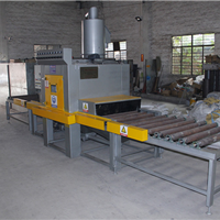 不锈钢餐具表面强化设备  金属建材钢结构除锈喷砂机