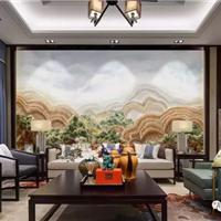 新中式风格沙发背景墙,卧室背景墙,公司背景墙