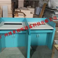 广州标准化语音教室升降屏风桌_屏风升降卡座厂家定制