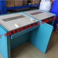 广州升降屏风桌_博奥电教室升降电脑桌屏风一体升降