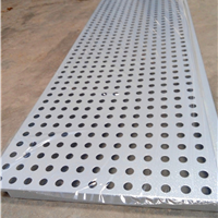 传祺展厅吊顶微孔装饰板-外墙银灰色镀锌板