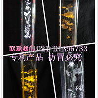 上海激光内雕水晶柱 玻璃柱气泡柱