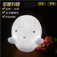 搪胶发光LED发光儿童玩具灯 创意礼品PVC卡通幽灵家居装饰小夜灯