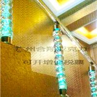 合翔 有机玻璃楼梯扶手 直线式水晶楼梯立柱扶手