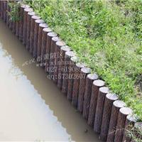 厂家生产水泥仿木桩模具,混凝土仿树皮桩
