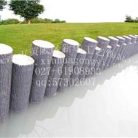 连桩仿木树桩石 仿木桩 水泥制品 仿木树桩模具 松树皮木桩模具