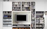 DIY电视背景墙 发掘客厅收纳